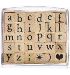 Alphabet Stempel Set Kleinbuchstaben - Artemio