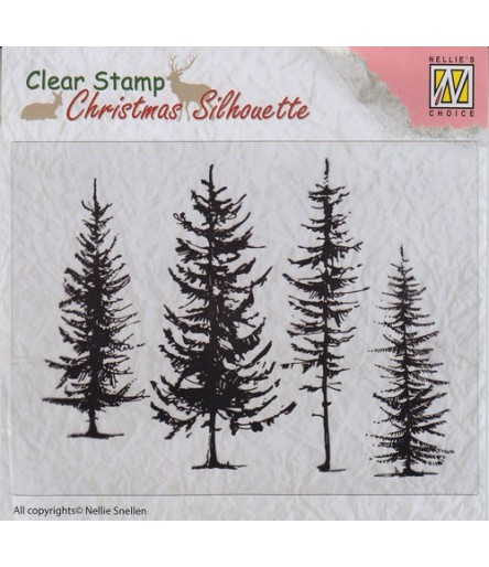Clear Stamp Pine Tree - Nellie's Choice