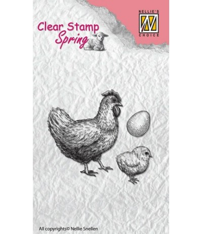 Clear Stamps Hen, chicken and egg - Nellie's Choice