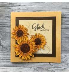 Sonnenblumen Stempel gross