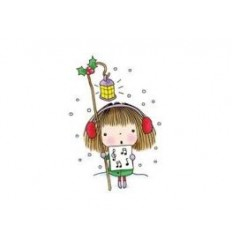 Mädchen mit Notenblatt Stempel - Christmas Note