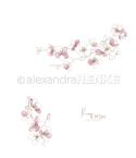 Scrapbooking Papier Rose & White Kirschblüten - Alexandra Renke