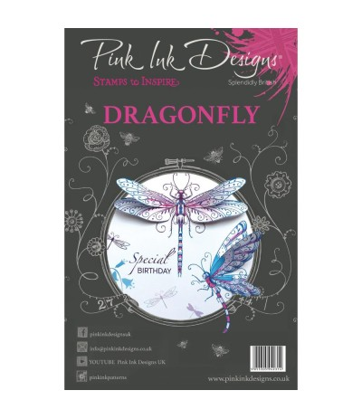 Clear Stamps Dragonfly Wings - Pink Ink Designs