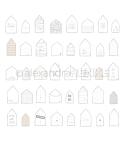 Scrapbooking Papier Häuser Willkommen - Alexandra Renke
