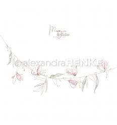 Scrapbooking Papier Magic & Color Hängende Blüten - Alexandra Renke