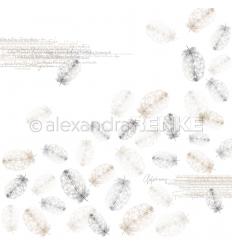 Scrapbooking Papier fallende Federn natur - Alexandra Renke