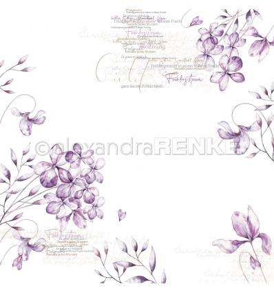 Scrapbooking Papier Veilchenblüten - Alexandra Renke