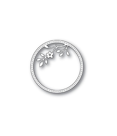 Stanzschablone Tree Blossom Stitched Circle Frame - Memory Box