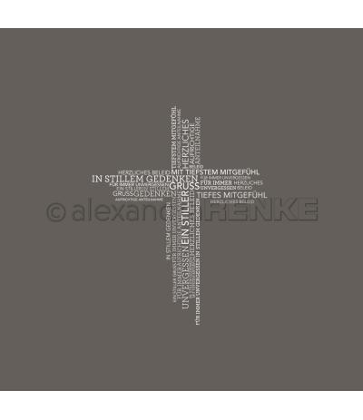 "Motivstempel Kreuz ""In stillem Gedenken"" - Alexandra Renke"