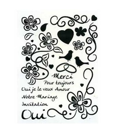 Notre Mariage Clear Stamps