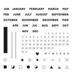 Clear Stamps Calendar Week (Englisch) - Papierprojekte