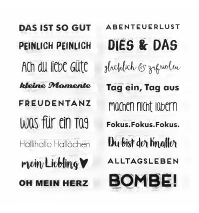 Clear Stamps Mini Sprüche - Papierprojekte