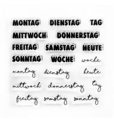 Clear Stamps Wochentage - Papierprojekte