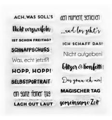 Clear Stamps Mini Sprüche 3 - Papierprojekte
