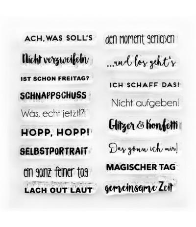 Clear Stamps Mini Sprüche 2 - Papierprojekte