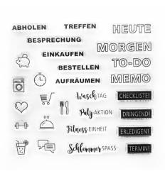 Clear Stamps Planer Worte - Papierprojekte