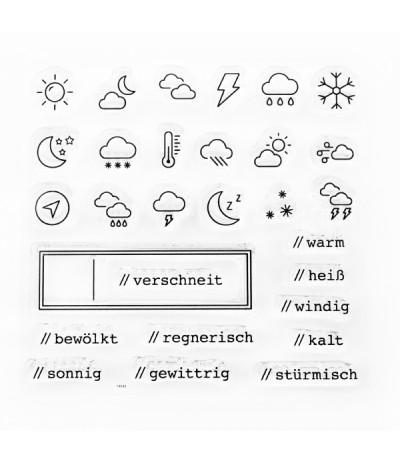 Clear Stamps Wetter - Papierprojekte