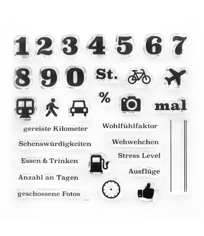 Clear Stamps Reise Statistik - Papierprojekte