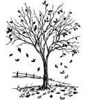 Herbstbaum Stempel