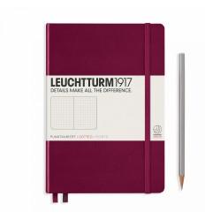 Notizbuch Medium (A5), Hardcover, Port Red, Dotted - Leuchtturm1917