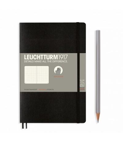 Notizbuch Paperback (B6), Softcover, Dotted, Schwarz - Leuchtturm1917