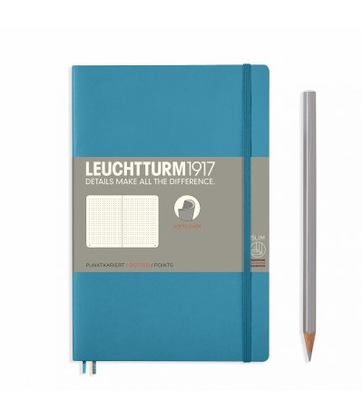 Notizbuch Paperback (B6), Softcover, Dotted, Pacific Green - Leuchtturm1917
