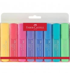 Highlighter Textliner 46 Pastell, 8er Etui - Faber-Castell