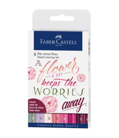 Tuschestift Pitt Artist Pen Handlettering 8er Etui Rosatöne - Faber-Castell