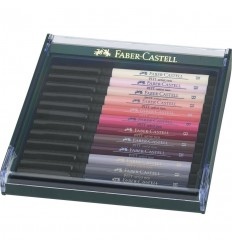 Tuschestift Pitt Artist Pen Brush 12er Etui Hauttöne - Faber Castell