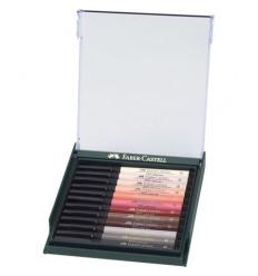 Tuschestift Pitt Artist Pen Brush 12er Etui Hauttöne - Faber-Castell