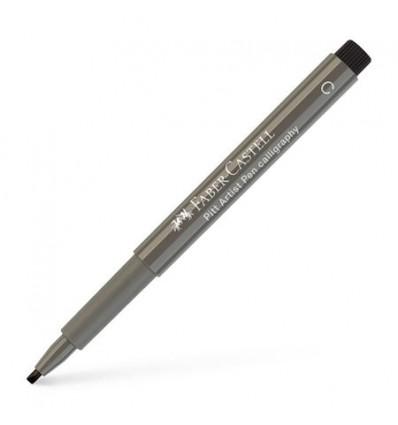 Tuschestift Pitt Artist Pen Calligraphy Warmgrau IV - Faber Castell