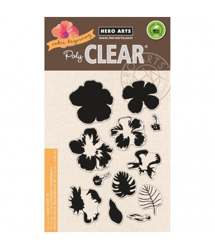Color Layering Hibiscus Clear Stamps - Hero Arts