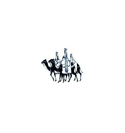 3 Könige auf Kamelen Stempel
