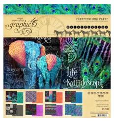 "Scrapbooking Papier Kaleidoscope Colletion, 8"" x 8"" - Graphic 45 ***"