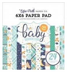 Scrapbooking Papier Hello Baby Boy, 15x15cm - Echo Park