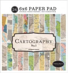 Scrapbooking Papier Cartography, 15 x 15 cm - Carta Bella