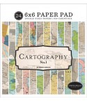 Scrapbooking Papier Cartography, 15 x 15 cm - Carta Bella