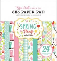 Scrapbooking Papier Spring Flingl, 15x15cm - Echo Park