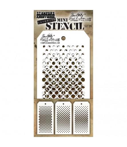Stencil Schablonen Mini Set Nr. 39 - Tim Holtz