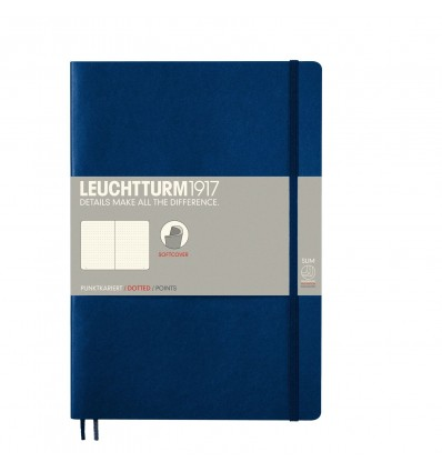 Notizbuch Medium (A5), Hardcover, Navy Blue, Dotted - Leuchtturm1917