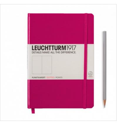 Notizbuch Medium (A5), Hardcover, Berry, Dotted - Leuchtturm1917