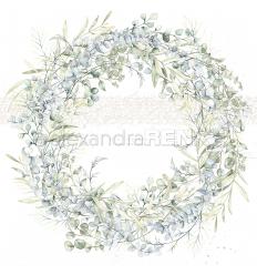 Scrapbooking Papier Eukalyptus-Kranz - Alexandra Renke