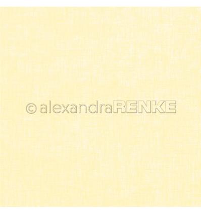 Scrapbooking Papier Leinen zitronengelb - Alexandra Renke