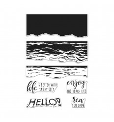 Clear Stamps Color Layering Waves - Hero Arts