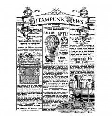 Cling Stempel Steampunk News - Stamperia