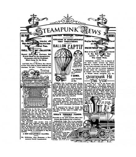 Cling Stempel Steampunk News - Stamperia