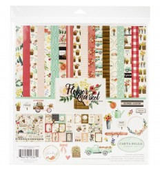 Scrapbooking Papier Flower Market Collection - Carta Bella