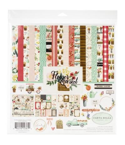 Scrapbooking Papier Flower Market Collection - Carta Bella ***