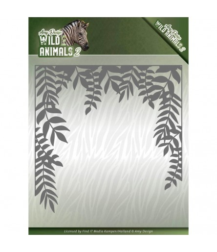 Stanzschablone Jungle Frame ,Wild Animals 2 - Find it