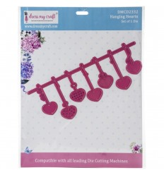 Stanzschablone Hanging Hearts - Dress My Craft